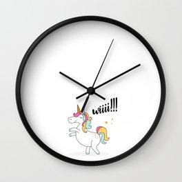 Unicorn wiii Wall Clock