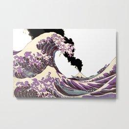Great Wave Eruption of Fuji-San Metal Print