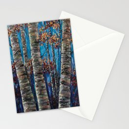 Aspen Forest In The Rocky Mountain Stationery Cards