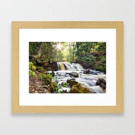 Upper Chapel Falls at Pictured Rocks National Lakeshore - Michigan Framed Art Print