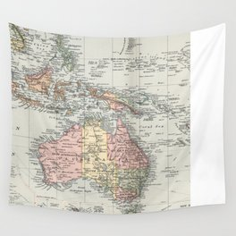 Vintage Map of Oceania (1892) Wall Tapestry
