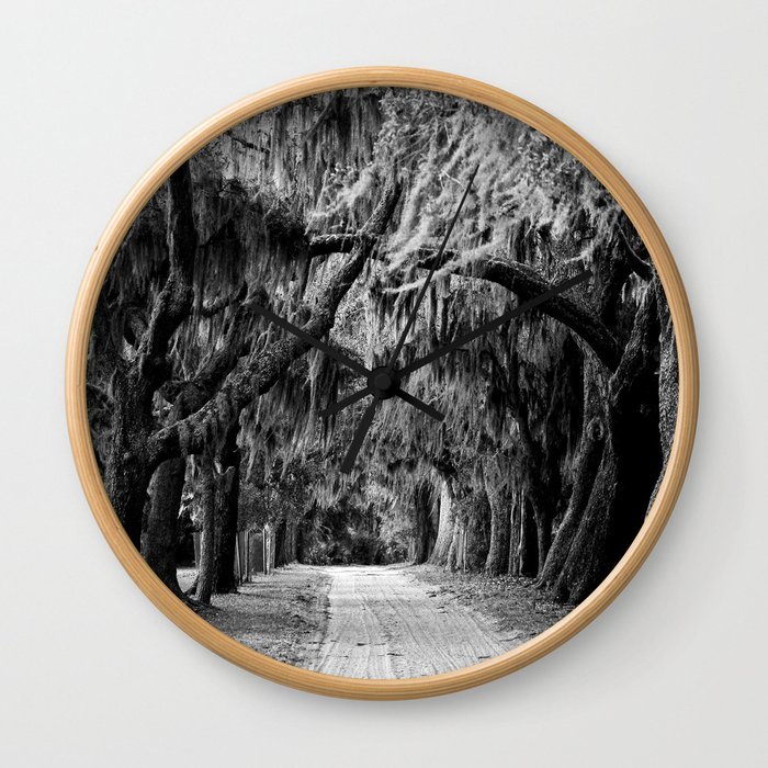 Moss in trees Wall Clock