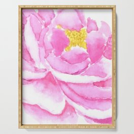 pink peony Serving Tray