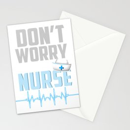 Don't Worry I'm A Nurse Doctor Medical Health Check Nursing Aide CNA Physician Medic Hospital Gift Stationery Cards