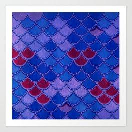 Colorful Dragon Scales Art Print