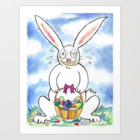 Happy Happy HAPPY Easter! Art Print
