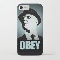 fringe iPhone & iPod Cases featuring OBEY (Fringe) by Matheus Lopes
