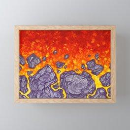 Oh, so hot! - firery lava Framed Mini Art Print