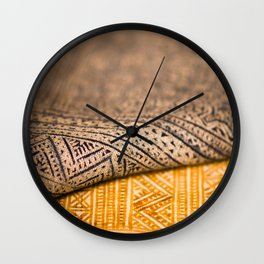 Magic Carpet Beautiful Embroidered East Asian Pattern Tapestry Wall Clock