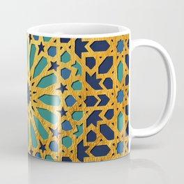-A1_2- Golden Original Traditional Moroccan Artwork. Coffee Mug