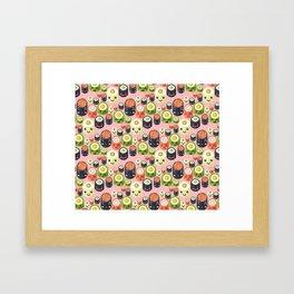 Cute Sushi Framed Art Print