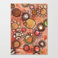 brown Canvas Prints featuring brown by Kras Arts - Fly Me To The Moon