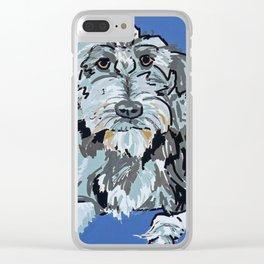 Irish Wolfhound Dog Portrait Clear iPhone Case