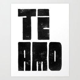 Te Amo Ti Amo Art Print