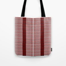 Black and red lines background Tote Bag