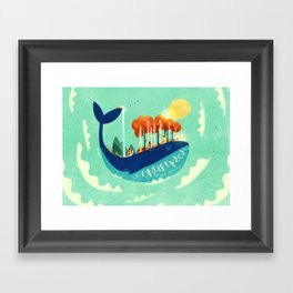 :::Tall Tree Whale::: Framed Art Print