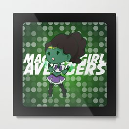 Magical Girl Hulk Metal Print