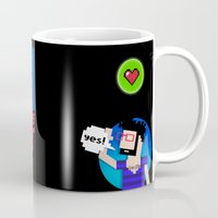 8 bit Mugs featuring 8-bit by EarlyHuman