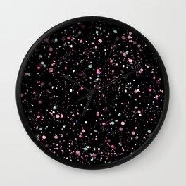 Paint Splatter Design Wall Clock