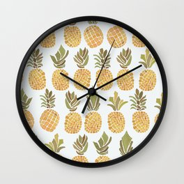 Vintage Pineapple Show Wall Clock