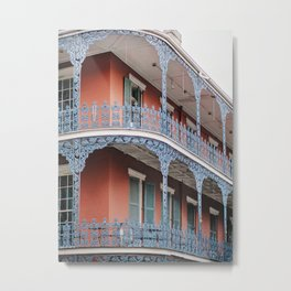 NOLA Lace - New Orleans Architecture Photography Metal Print