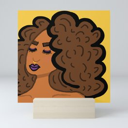 Plum Glum Mini Art Print