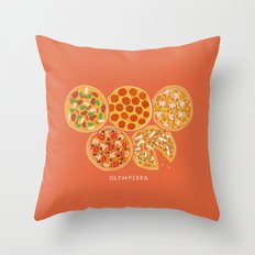 Olympizza Throw Pillow
