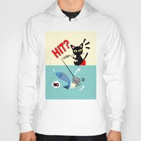 fishing Hoodies featuring Fishing by BATKEI