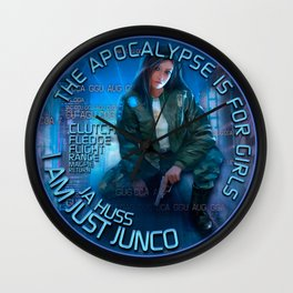 Junco - The apocalypse is for girls Wall Clock