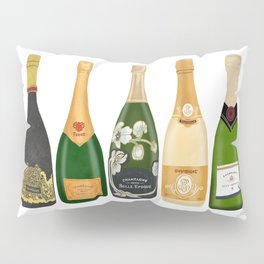 Champagne Bottles Pillow Sham