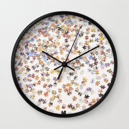 Top view of a Jigsaw puzzle Wall Clock