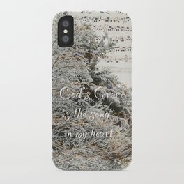 God's Grace is the song in my heart iPhone Case