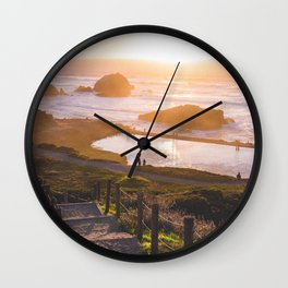 Sunset At Sutro Baths - San Francisco, CA Wall Clock