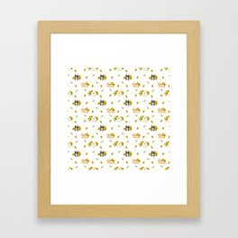 Puppies And Sunflowers Framed Art Print