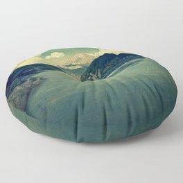 Distant Blues Floor Pillow