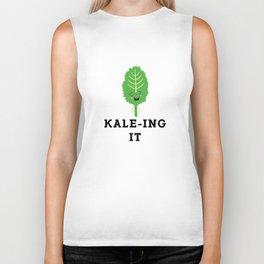 Kale-ing It Kale Art for Vegans Vegetarians Light Biker Tank