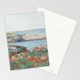 Poppies, Isles of Shoals 1891 by Childe Hassam Stationery Cards