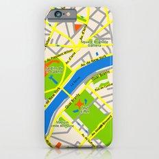 Paris map design Slim Case iPhone 6s