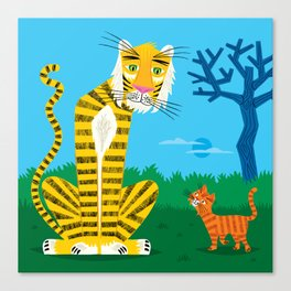 The Tiger and The Tom Cat Canvas Print