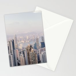Hong Kong skyline by day Stationery Cards
