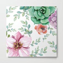 FLOWERS WATERCOLOR Metal Print