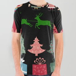 Christmas Elves & More All Over Graphic Tee