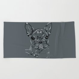 Sketchy Frenchie Beach Towel