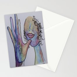 ASL Mother in Denim Colors Stationery Cards