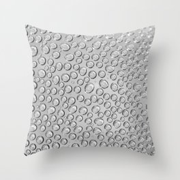 water drops on the glass Throw Pillow