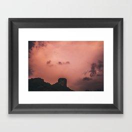 Lightning, Railay East Framed Art Print