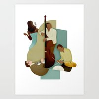 jazz Art Prints featuring Jazz by Andrew Lyons