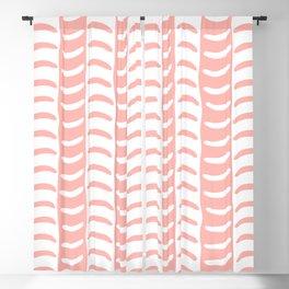 Wavy Stripes Peach Blackout Curtain