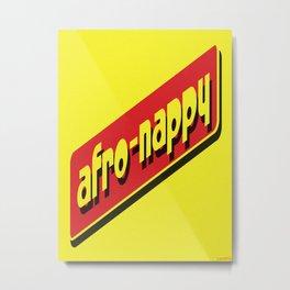 AFRO-NAPPY Metal Print