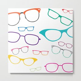 Glasses for All Metal Print